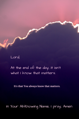 To Know the Mind of God 4